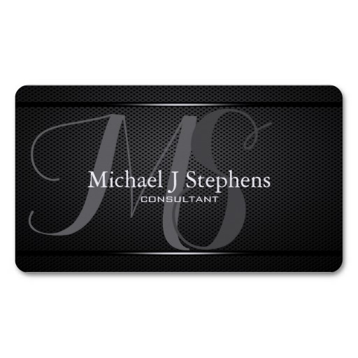 monogram_professional_black_metal_textured_business_card-r058f55521bec4e49a19c17504297fbae_i58vo_8byvr_512